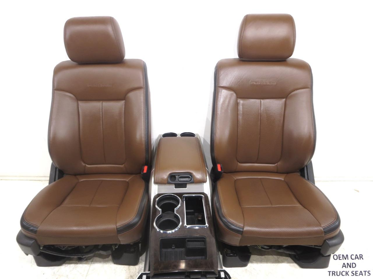 Replacement Seats Air Conditioned 2004 Ford F 150 Platinum F150 Oem Pecan Brown Leather A C Heated Cooled