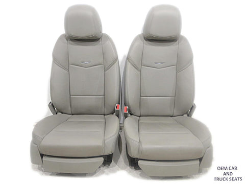 Cadillac Ats Sedan Oem Leather Seats 2013 2014 2015 2016 Light Platinum