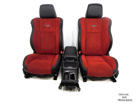 Dodge Charger R/t Oem Red Alcantara Front & Rear Seats, Heat & A/C 2013 2014 2015 2016 2017 BRAND NEW