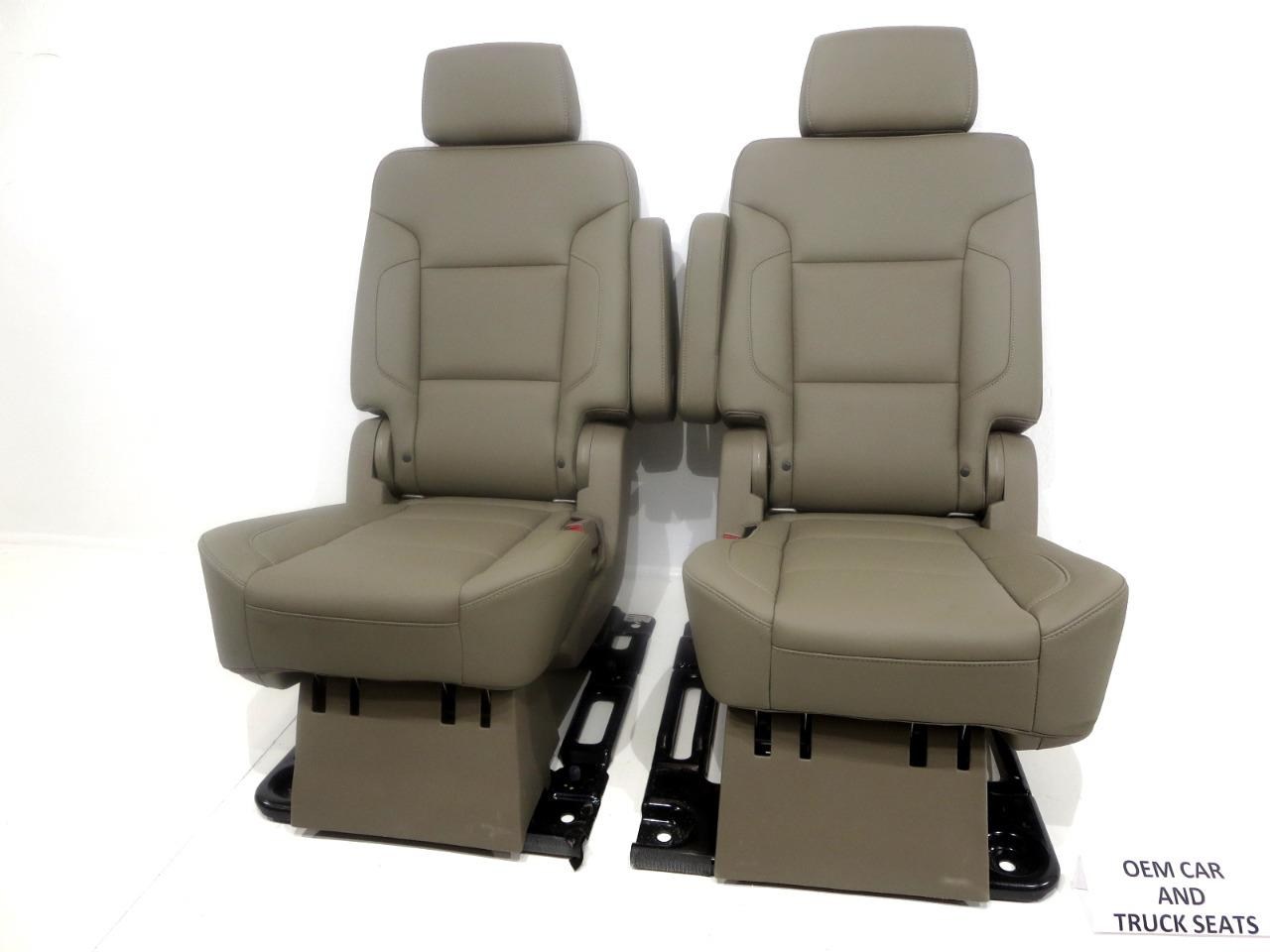 Awe Inspiring Gm Suburban Yukon Xl Oem Leather Rear Bucket Seats Second Row 2015 2016 2017 Ocoug Best Dining Table And Chair Ideas Images Ocougorg