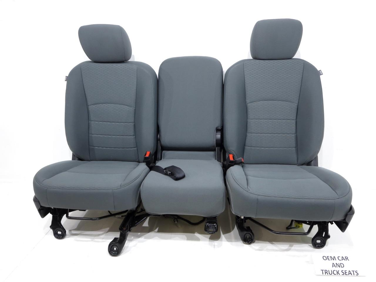 Replacement Dodge Ram Oem Front Cloth Seats Gray 2009 2010