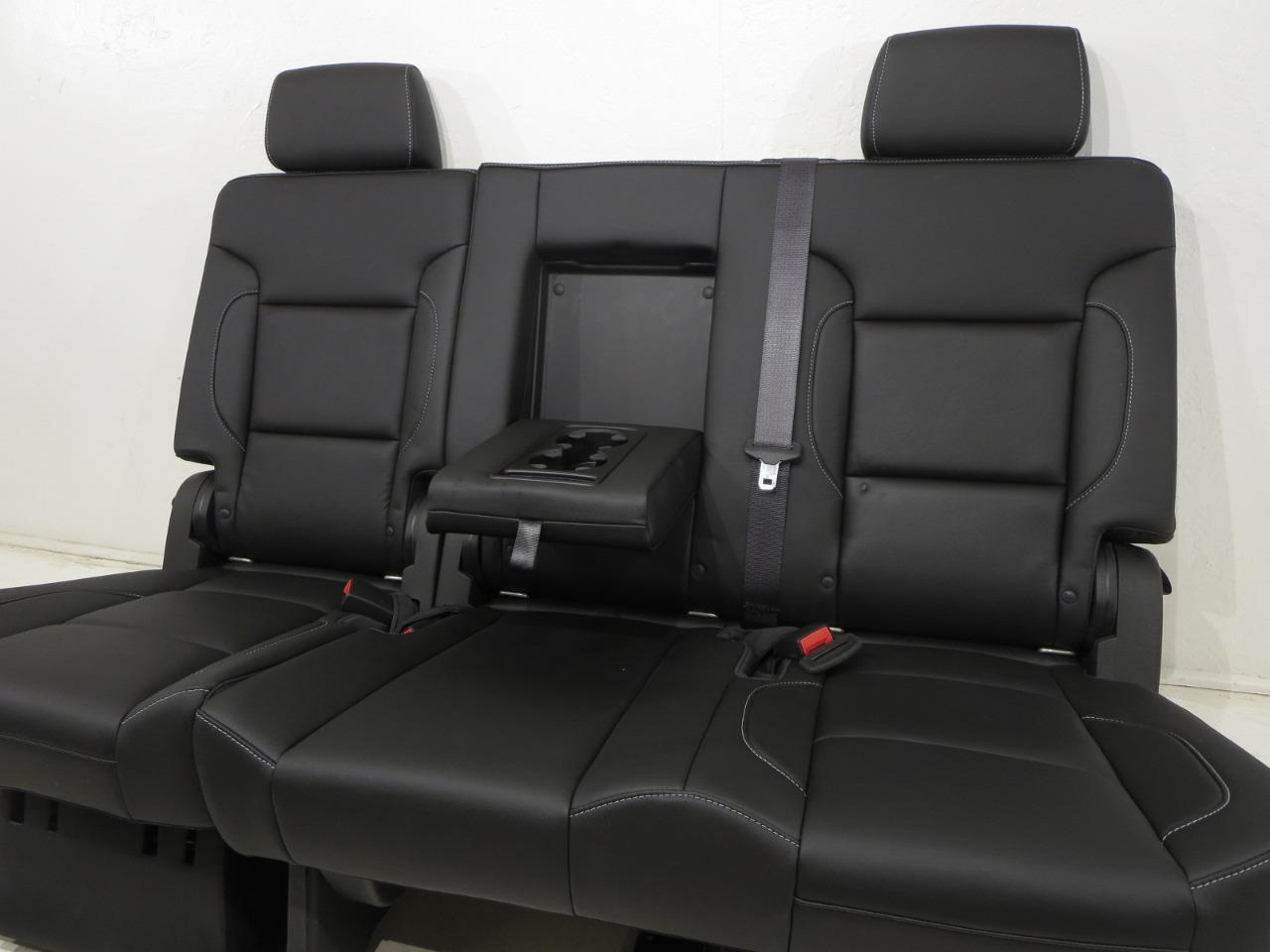 Prime Gm Tahoe Yukon Oem Leather Rear Bench Seat Second Row 60 40 2015 2016 2017 Squirreltailoven Fun Painted Chair Ideas Images Squirreltailovenorg