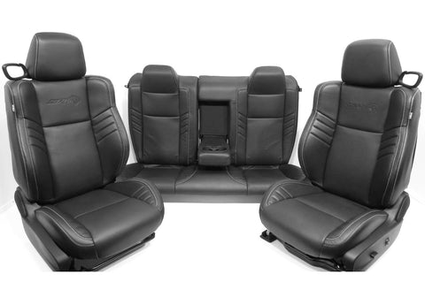 Dodge Challenger Hellcat Seats Srt Front And Rear Black Leather Set New