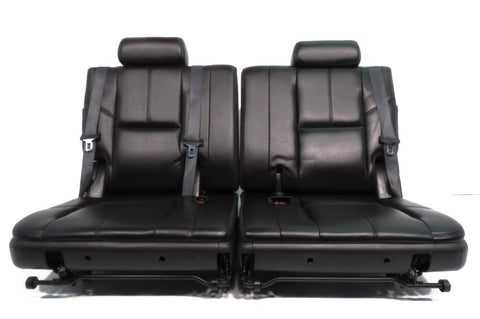 GM Chevy Tahoe Suburban Yukon Escalade OEM 3rd Third Row Black Leather Seats 2007 2008 2009 2010 2011 2012 2013 2014