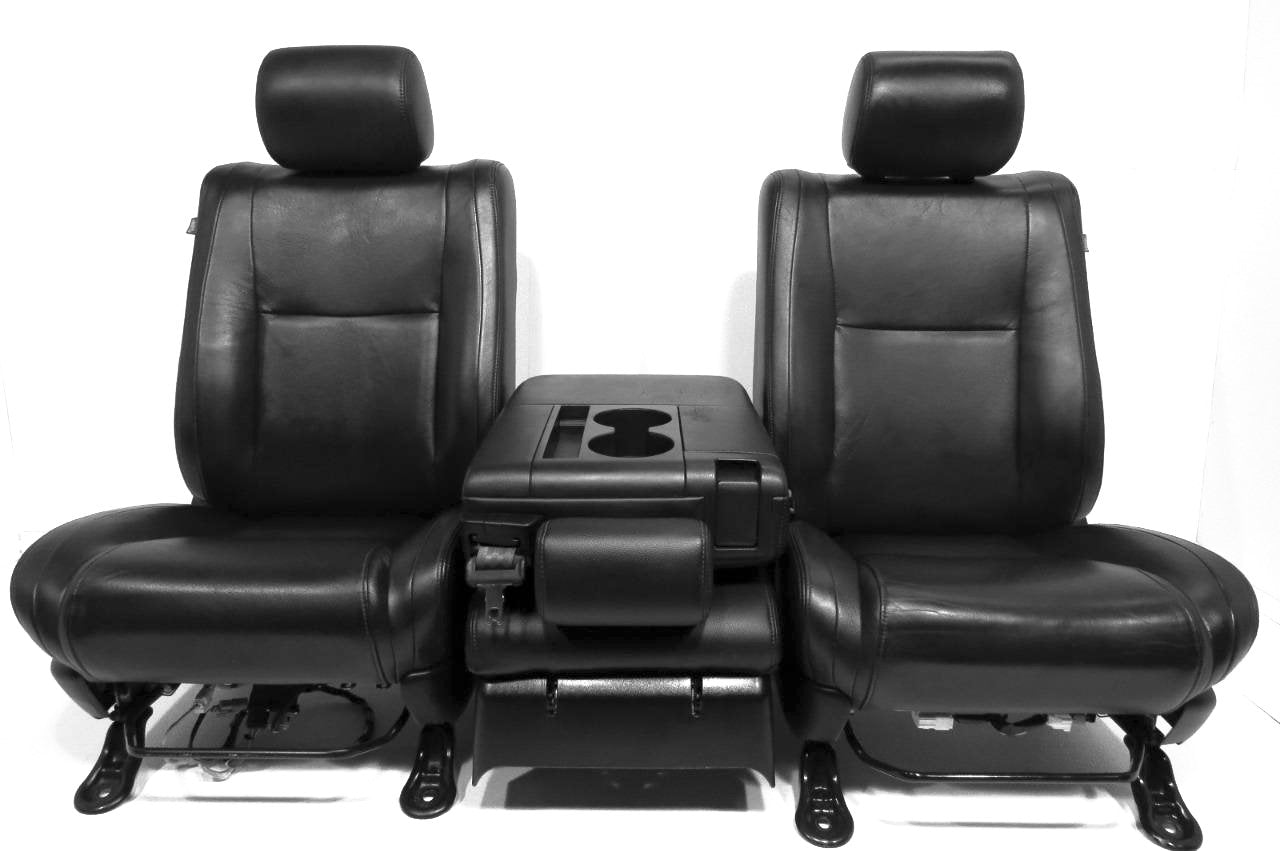 Replacement Toyota Tundra Black Leather Seats 2007 2008 2009 2010
