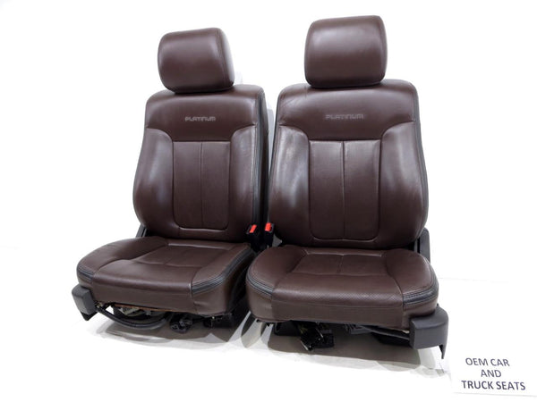 leather platinum ford seats brown heated oem f150 replacement 2009