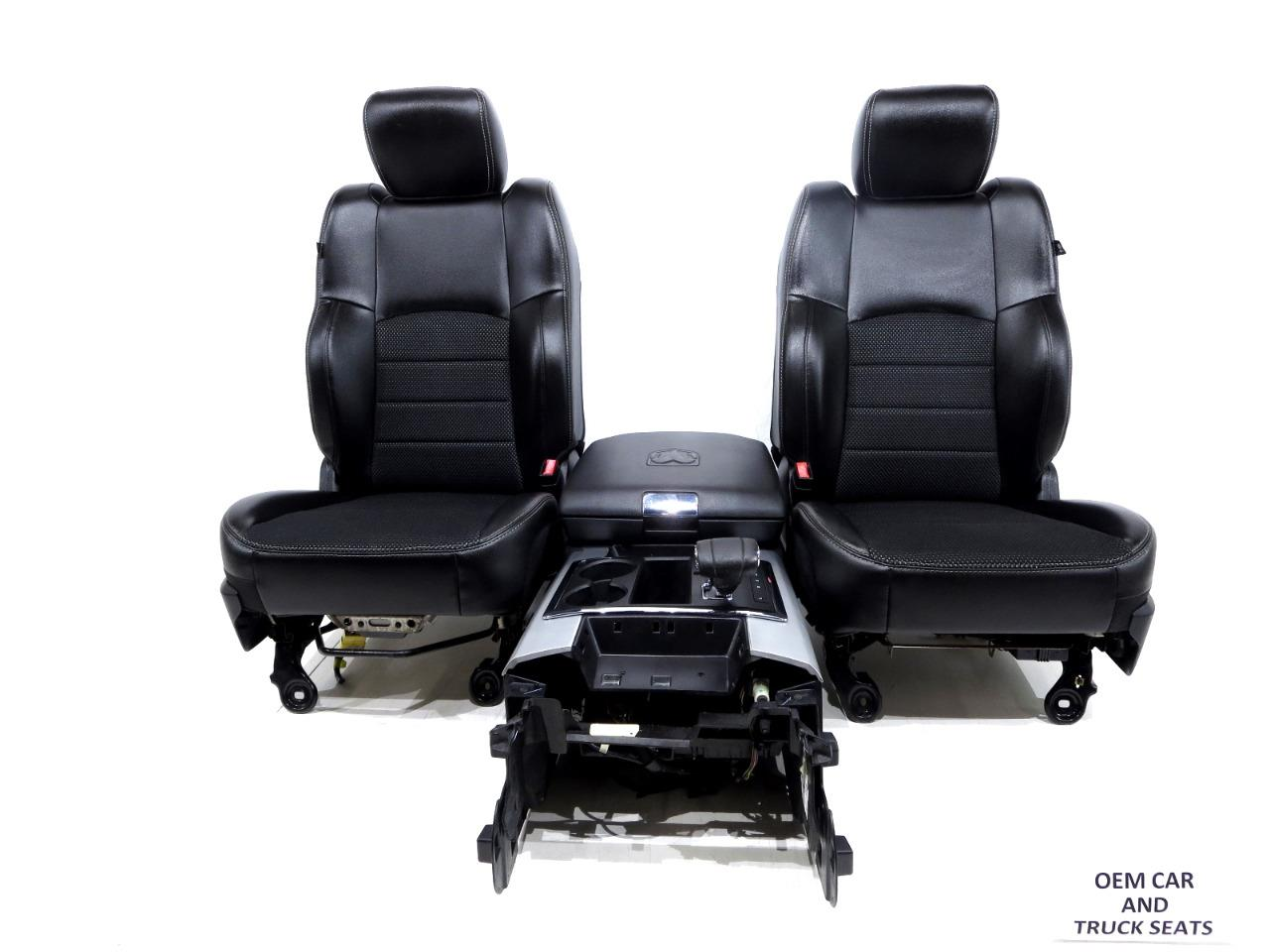 Replacement Dodge Ram Sport R T Oem Powered Front Cloth Vinyl Seats 2009 2010 2011 2012 2013 2014 2015 2016 2017 2018 Stock 1164i