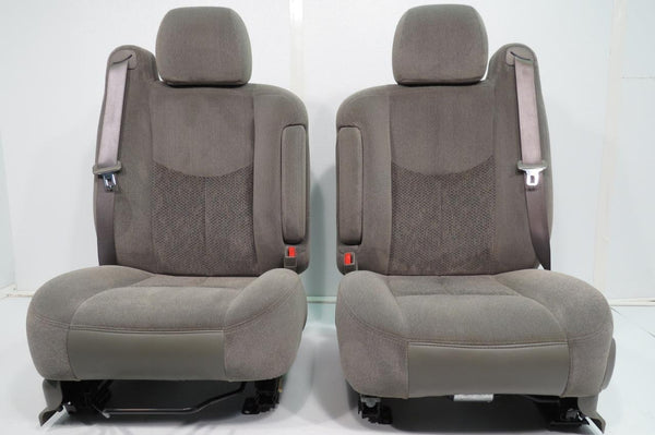 2006 F150 For Sale >> Replacement GMC Sierra Yukon Chevy Silverado Tahoe Suburban Front Seats Pewter Gray Cloth Seats ...