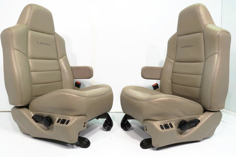 Ford Super Duty Front Seats Tan Leather 1999 - 2007