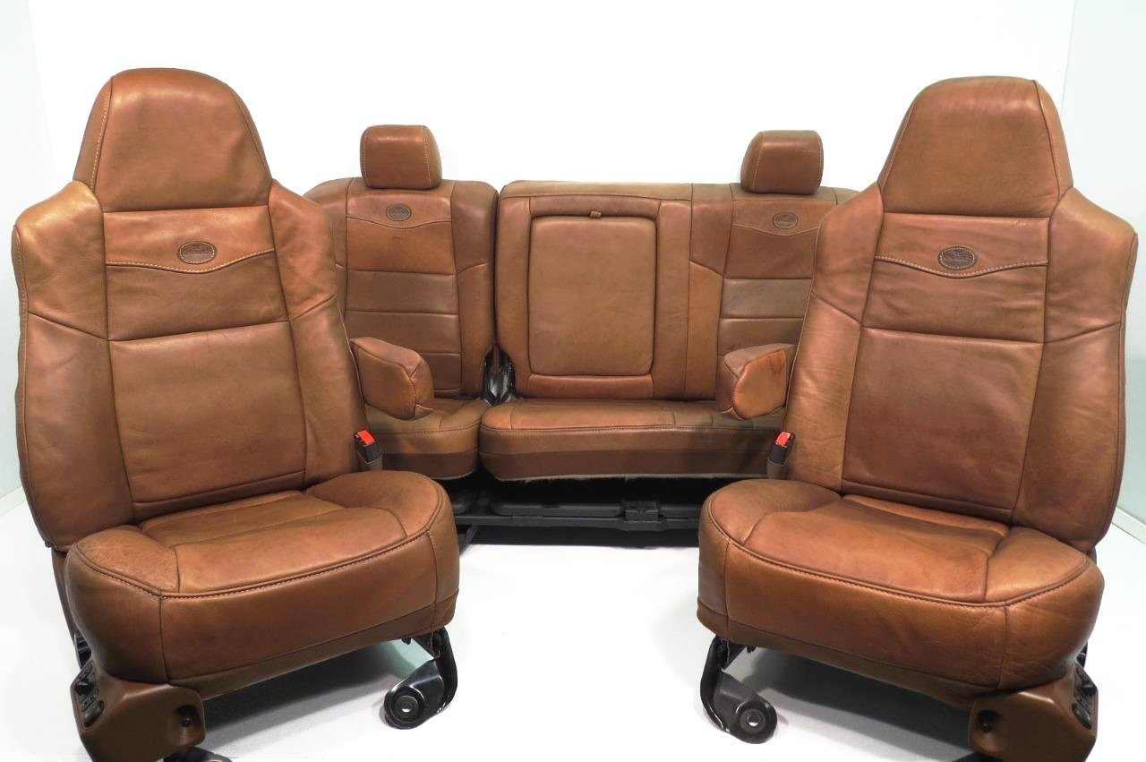 Replacement King Ranch Seats Super Duty Seats Ford Crew Cab Front & Rear 1999 - 2007 | Stock # 4573c