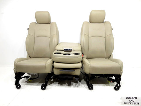 Dodge Ram Leather Front Seats Heat A/c With Jump Seat 2009 2010 2011 2012 2013 2014 2015 2016 2017