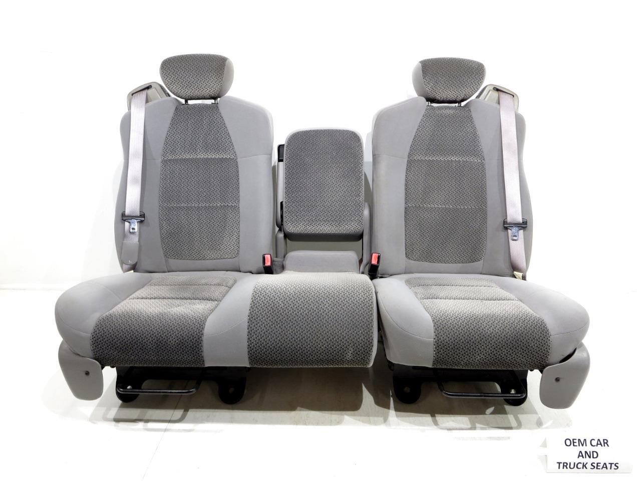 Replacement Ford F150 F 150 Oem 60 40 Cloth Seats W Integrated Seatbelts 2001 2002 2003 Stock