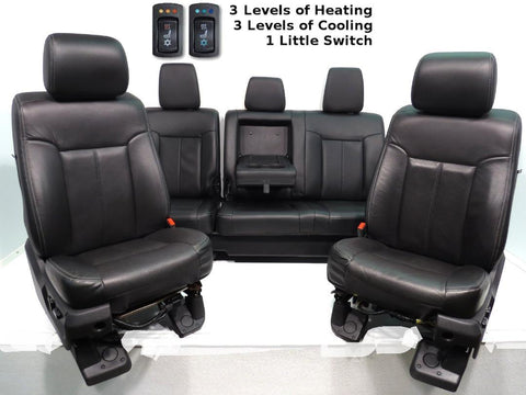 Ford Super Duty Leather Seats With Heat And Cool,  Rear Seat W/heat 1999-2007, 2008-2010, 2011 2012 2013 2014 2015 2016