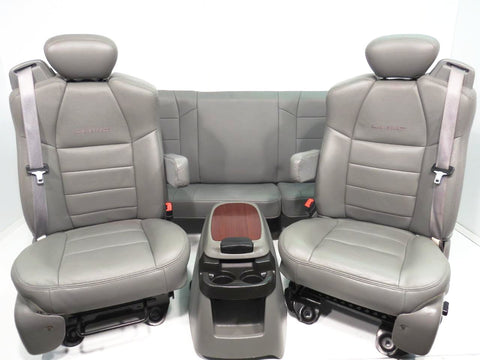 Ford Super Duty Super Cab Seats Extended Cab Leather 2003 2004 2005 2006 2007