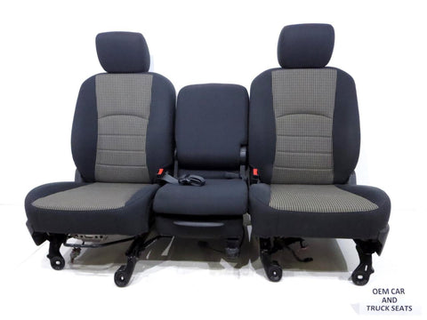 Dodge Ram Oem Powered Front Cloth Seats 2009 2010 2011 2012