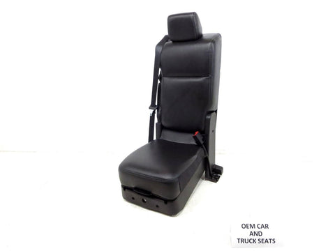 Ford Super Duty F250 Black Leather Center Jump Seat 2011 2012 2013 2014 2015