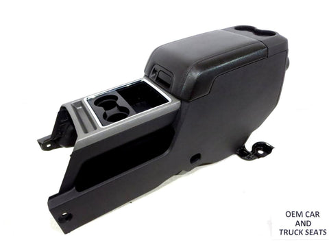 Ford Super Duty F250 Black Flow-through Center Console 2011 2012 2013 2014 2015
