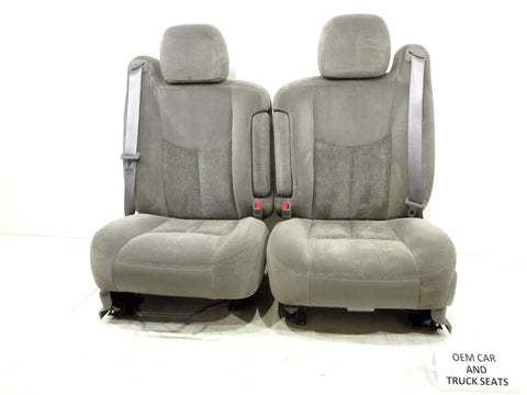 Gm Silverado Sierra Cloth Oem Front Seats W/ Arm Rests 2003 2004 2005 2006 '