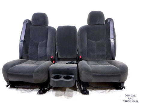 Gm Silverado Sierra Cloth Oem Front Seats With Jump Seat 2003 2004 2005 2006 '