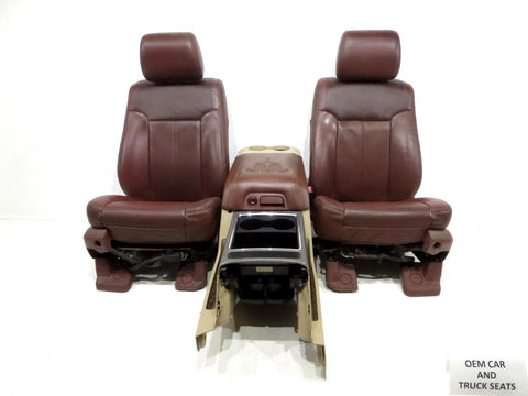 Ford Super Duty F250 F350 King Ranch Leather Seats 2011 2012 2013 2014 2015 2016