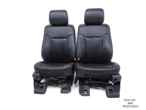 Ford Super Duty F250 F350 Black Leather Seats 2011 2012 2013 2014 2015 2016