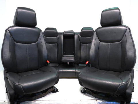 Chrysler 300 Dodge Charger John Varvatos Edition Poltrona Frau Black Leather Seats 2011 2012 2013 2014 2015 2016 2017