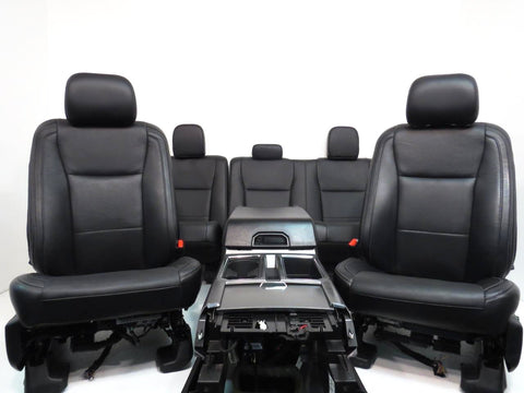 Ford F150 Black Leather Seats 2015 2016 2017 2018 Crew Cab F 150 Console Seats