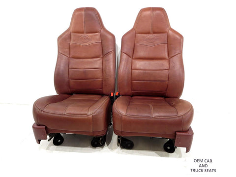 Ford Super Duty F250 F350 Oem King Ranch Heated Leather Seats 2008 2009 2010