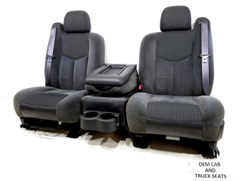 Gm Chevy Avalanche Oem Grey Cloth Front Seats Silverado 2003 2004 2005 2006 '