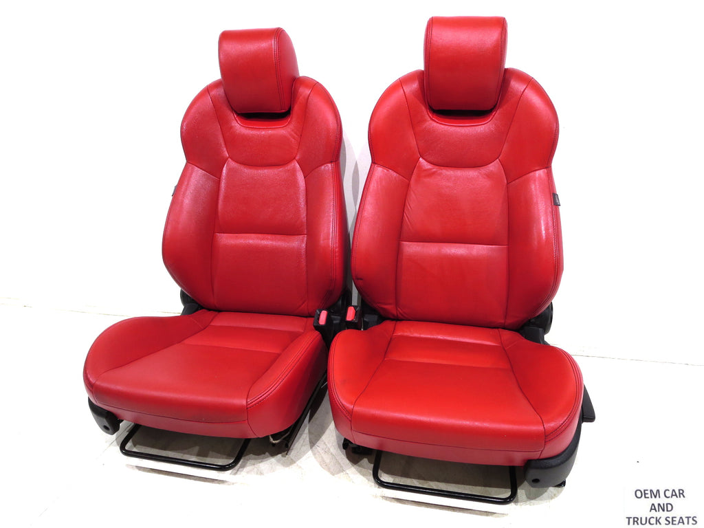 Hyundai Genesis Coupe Red Leather Seats 2009 2010 2011 2012 2013 2014 2015