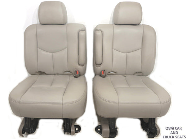 seats rear 2002 escalade bucket 2003 2004 2000 2006 2001 2005 row oem gm suburban tahoe 2nd yukon leather replacement