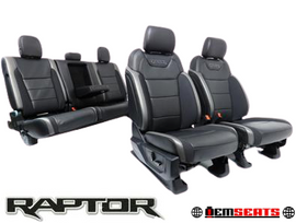 Ford F-150 F150 Raptor Front & Rear Leather Heated Ventilated Seats zero miles 2016 - 2020