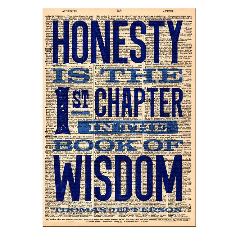 Honesty Dictionary Print