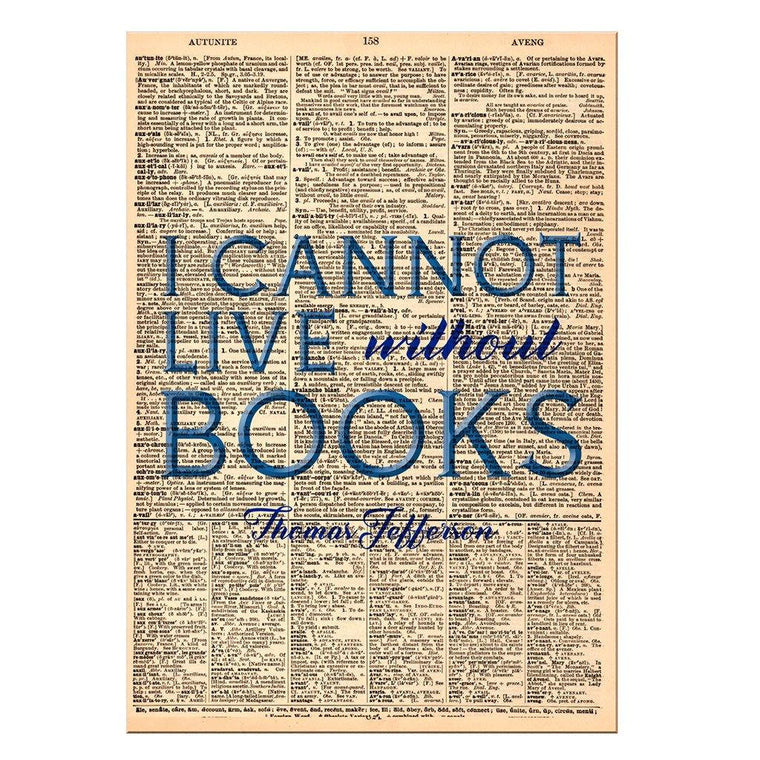 I Cannot Live Dictionary Print