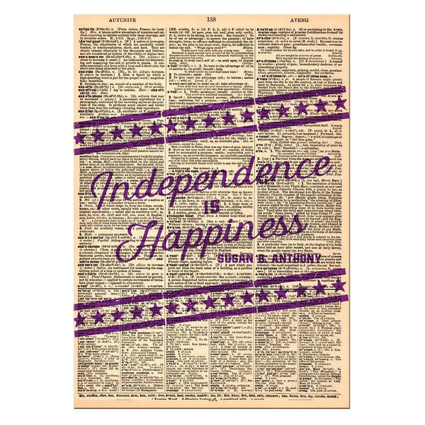 Independence is Happiness Dictionary Print