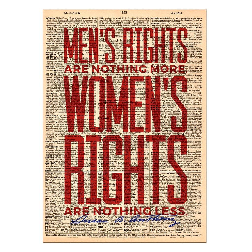 Men's Rights Dictionary Print