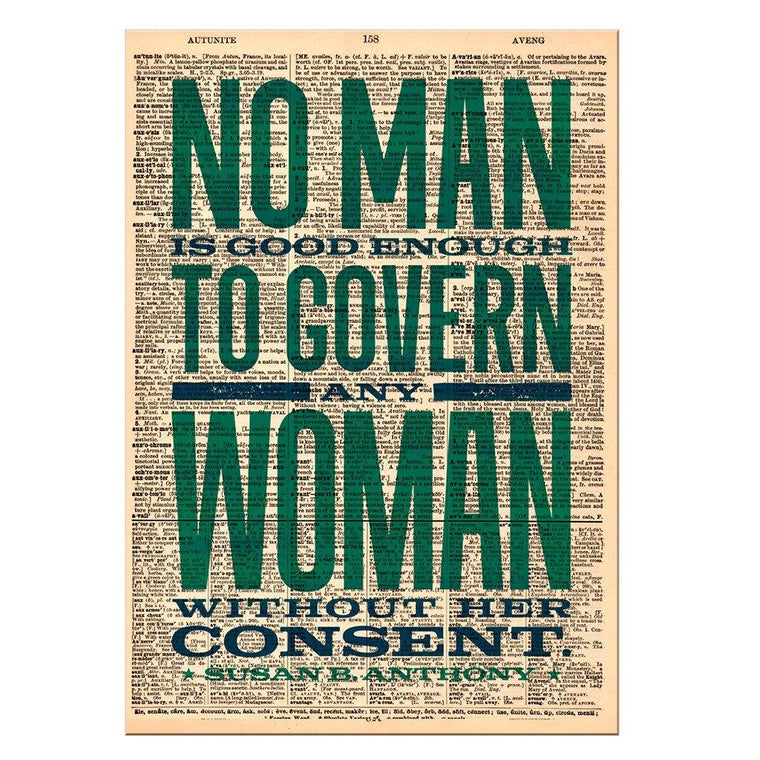 No Man Dictionary Print