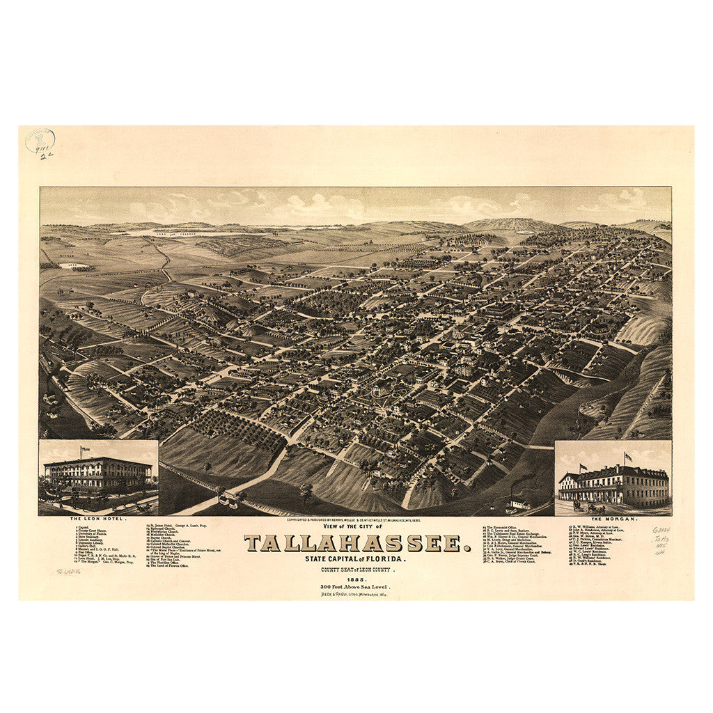 Our Birds Eye view map of Tallahassee, Florida