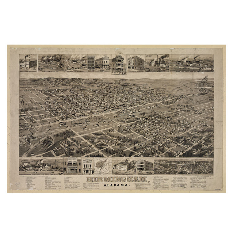 Our Bird's Eye view map of Birmingham, Alabama