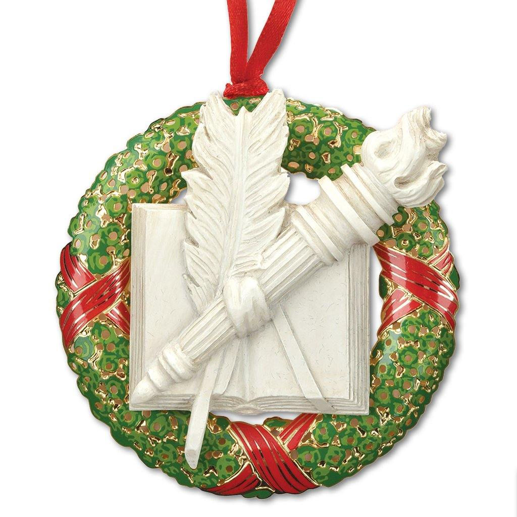 2019 Library Wreath Ornament