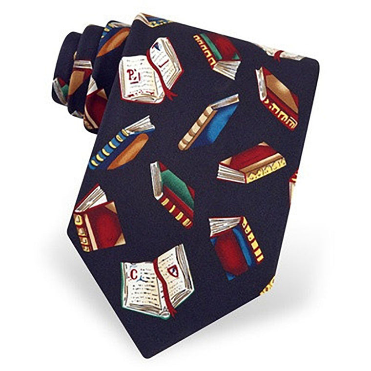 Required Reading Silk Tie