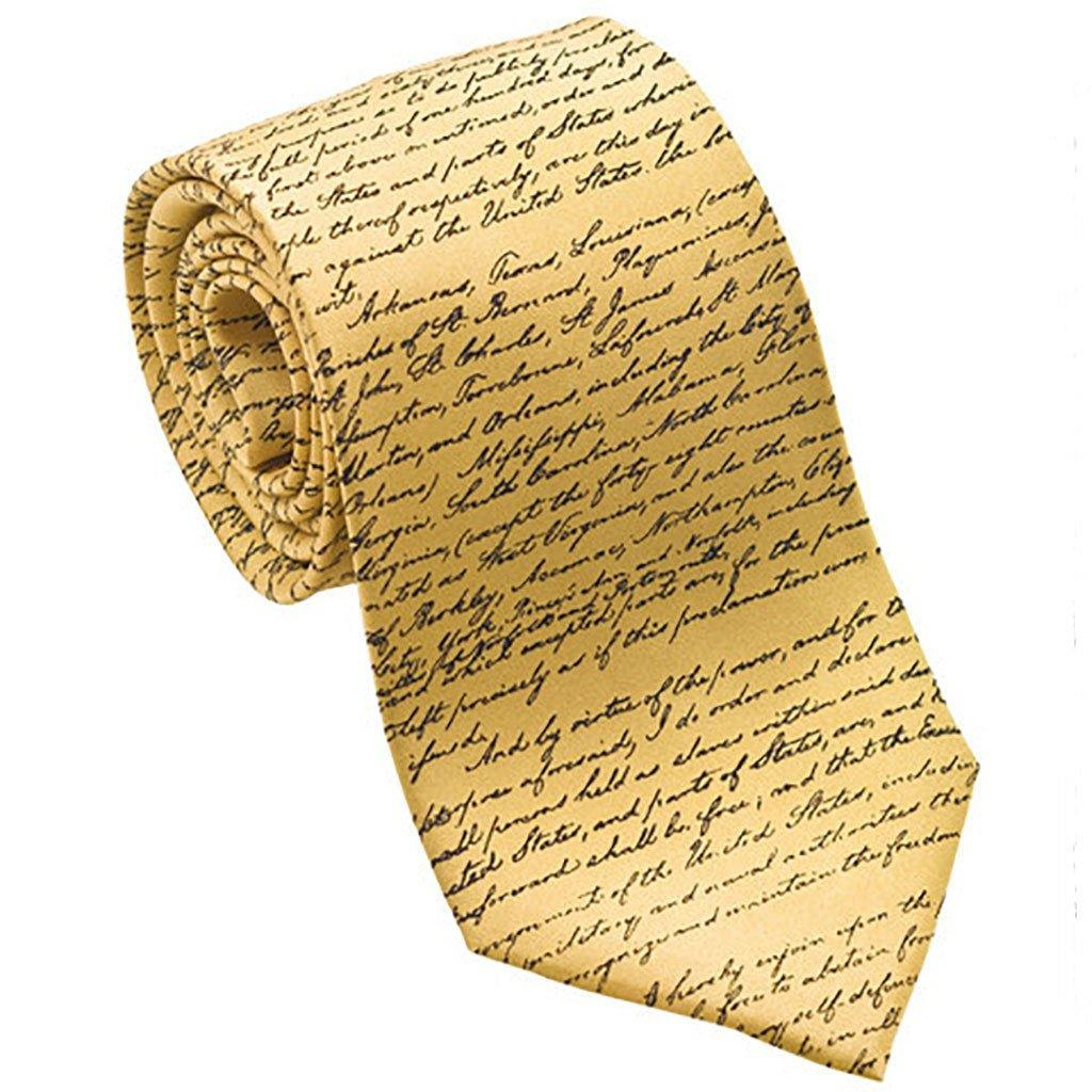 Emancipation Proclamation Silk Tie - Library of Congress Shop