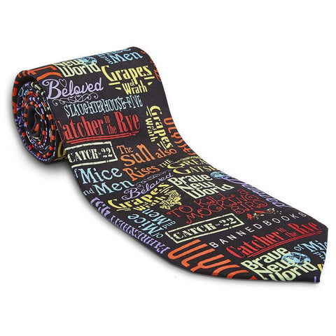 Banned Books Silk Tie