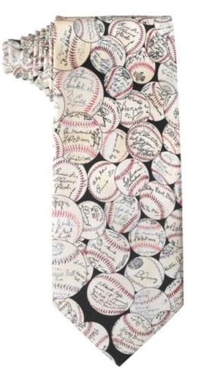 Baseball Signatures Silk Tie - Library of Congress Shop