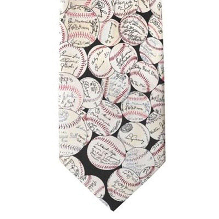 Baseball Signatures Silk Tie