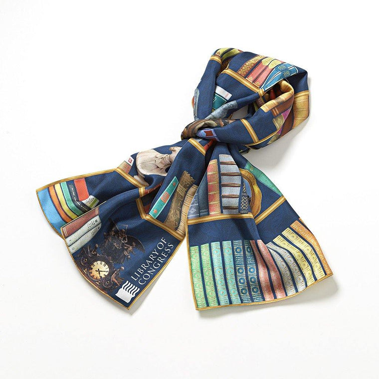 Library Bookshelf Scarf (W)
