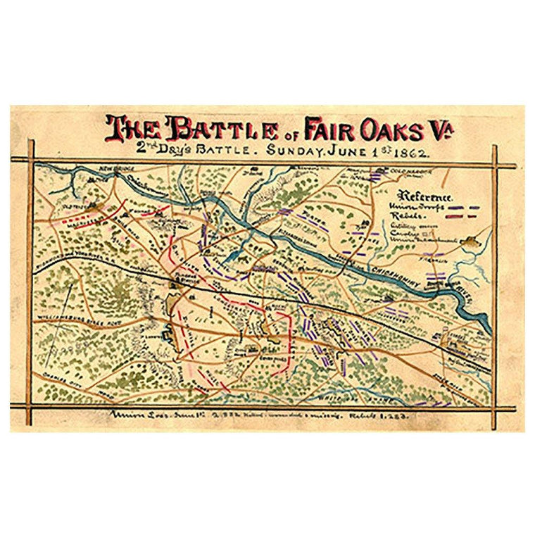 Battle of Fair Oaks, Virginia Map
