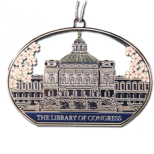 Library Cherry Blossom Ornament - Library of Congress Shop