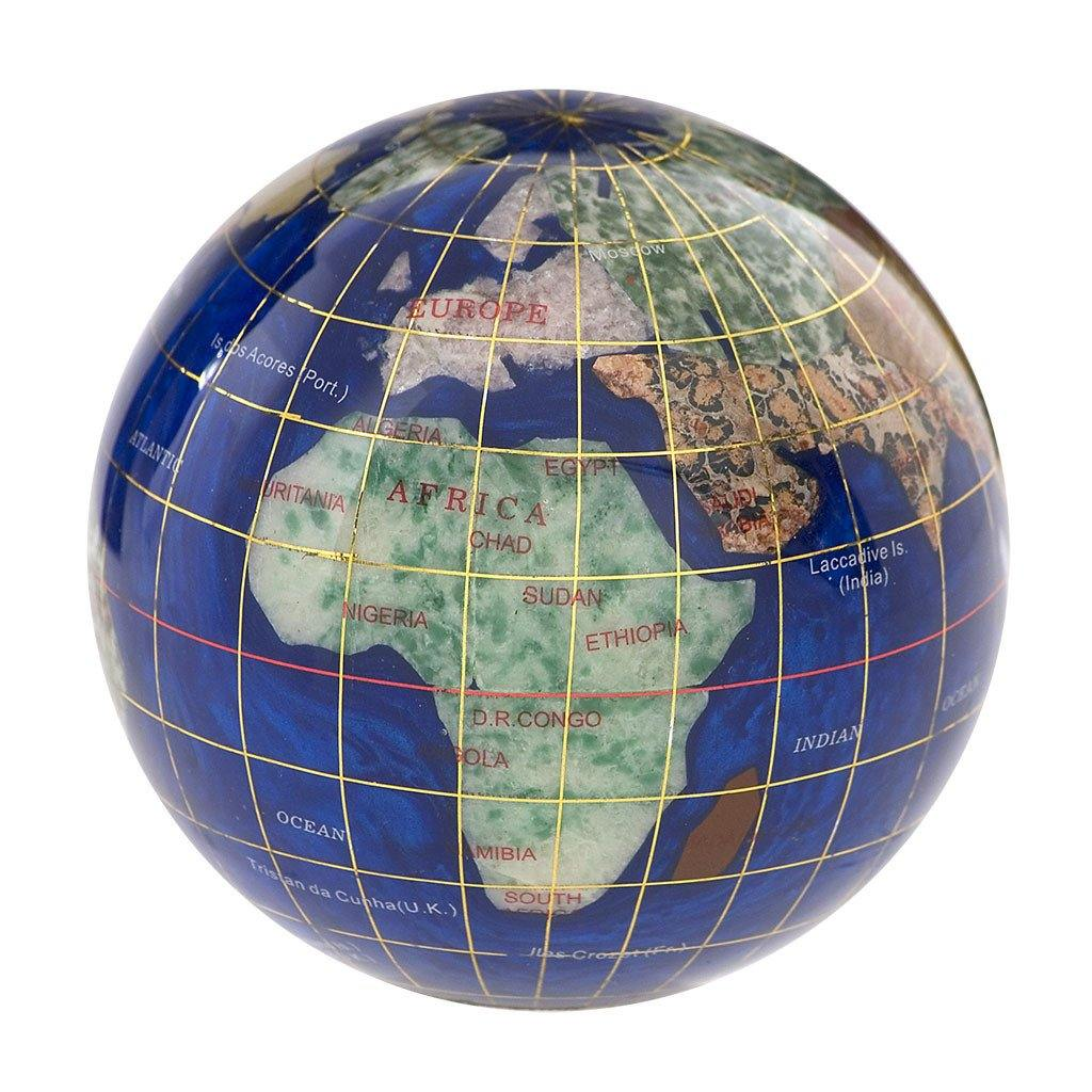 Gemstone Globe Paperweight - Library of Congress Shop