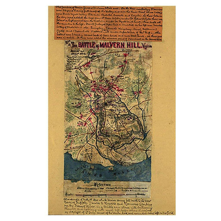 Battle of Malvern Hill, Virginia Map